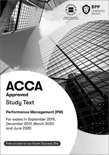 BPP ACCA F5 PM Performance Management Study Text