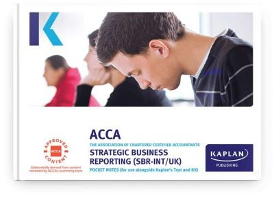 pocket notes acca professional strategic business reporting sbr
