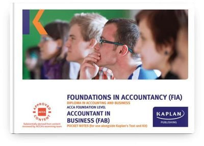 pocket notes fia accountant in business fab f1