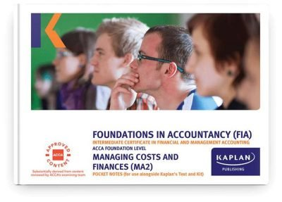 pocket notes fia managing costs and finance ma2