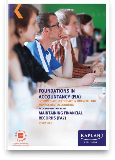 study text fia maintaining financial records fa2
