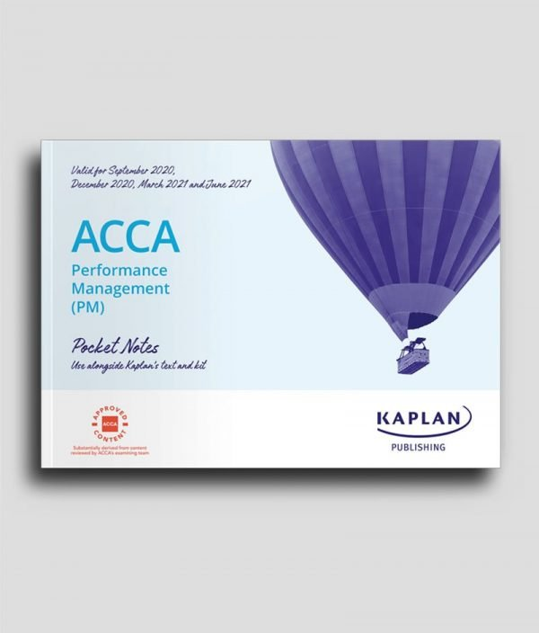 KAPLAN ACCA F5 Performance Management PM Pocket Notes 2020 2021