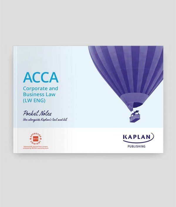 Kaplan ACCA F4 Corporate and Business Law England (ENG) Pocket Notes 2020-021